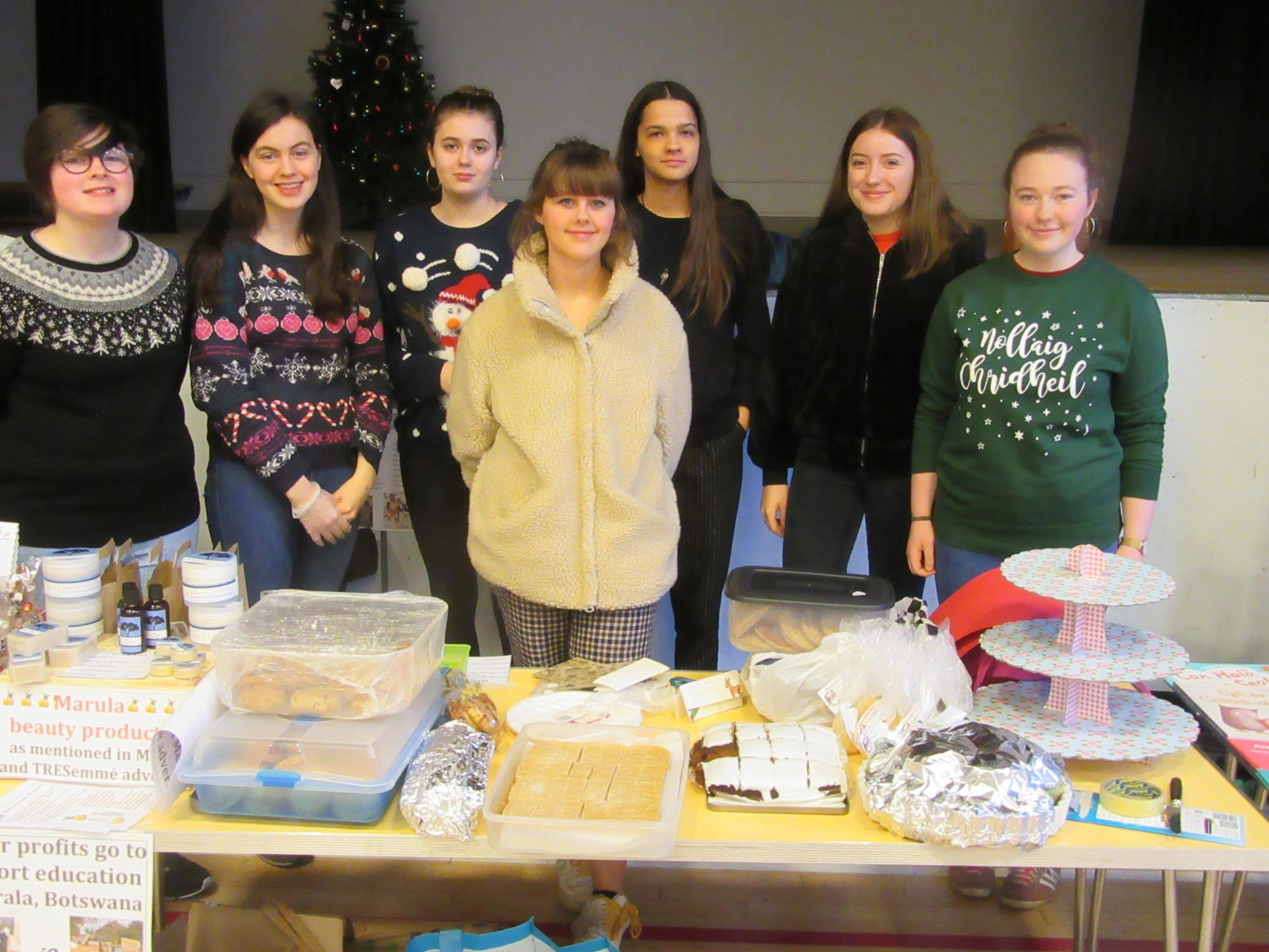 Fund-raising  bake  sale  at  the  Glasgow  Gaelic  School