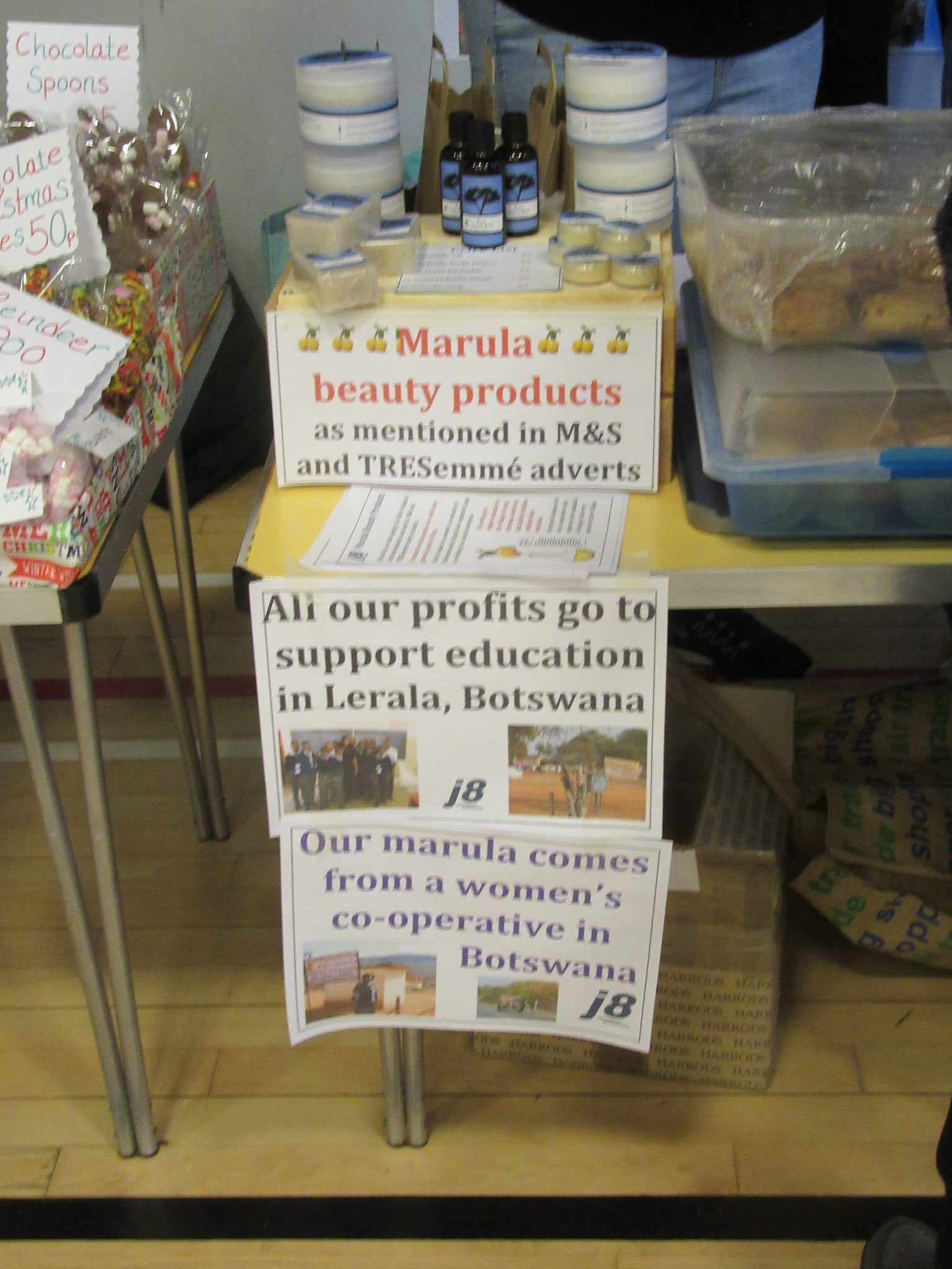 Selling  marula  products  from  Botswana  as  our  social  enterprise