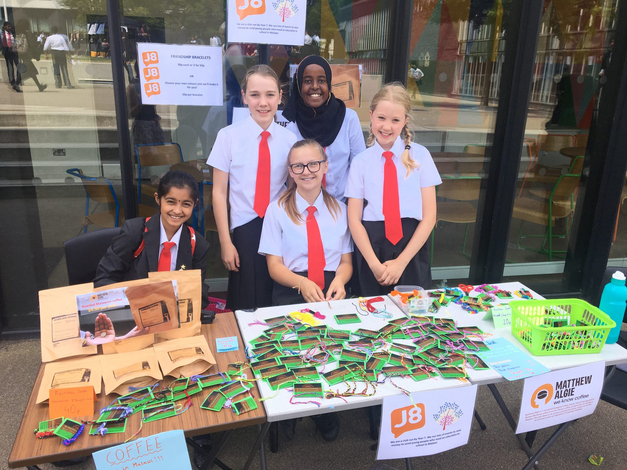 Fund-raising for Liwonde by j8 students in Burntwood School