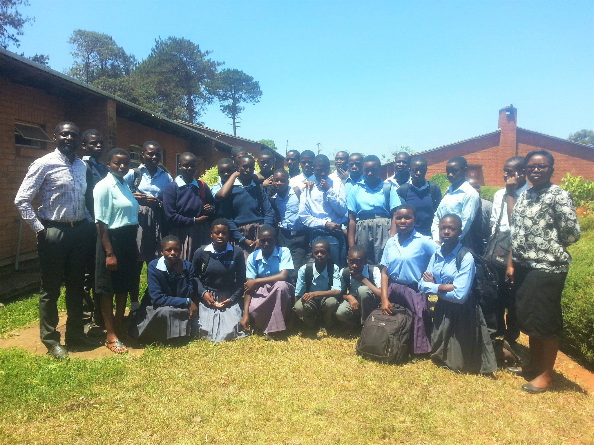The students in Mzuzu, Malawi who took part in the j8 Challenge